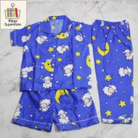 Piyama Baju Tidur Anak Junior Tanggung Cewe & Cowo Umur 6 - 10 Tahun