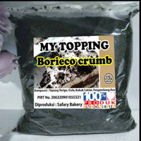 Best Seller Black Cookie Crumb Borieco 5 Kg My Topping Borieco Crumb