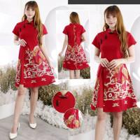 Meilla Batik Cheongsam Dress Baju Wanita Imlek CNY Best Seller CVE