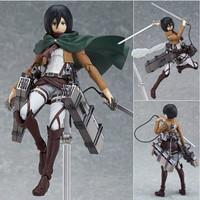 Action Figure Attack on Titan ( Mikasa Ackerman ) PVC High Quality
