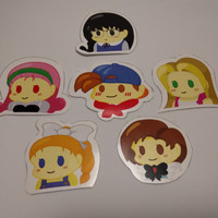 Sticker Harvest Moon Fanart Set