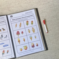 Wipe and Clean Worksheet Vol 01 (Aktivitas anak praTK / Paud)