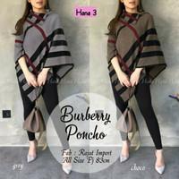 Baju Atasan Wanita Blouse Muslim New Burberry Ponco