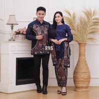 Kebaya Couple Batik Brukat Tile Modern Baju Pasangan Keluarga Pesta