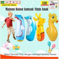 Balon Tinju Karakter Pvc Mainan anak model kartun hewan animal 81-90cm