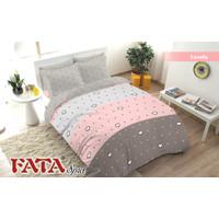 Bedcover Set 180 X 200 T 20 MOTIF LOVE / HATI Warna Pink - LOVELA