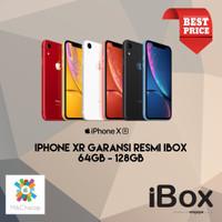 iPhone XR 64GB 128GB 256GB Garansi Resmi iBox NEW BNIB - Hitam, 64GB