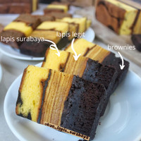 [3in1] Kue Lapis Surabaya/Spikoe-Lapis Legit-Bronis Moist Enak