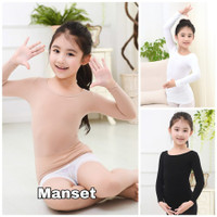 milanberry MANSET ANAK baju senam balet daleman warna kulit import - Nude, Size M