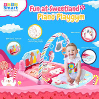 Bebe Smart Piano Baby Playmat / Playgym / Alas Main Bayi (Girl)