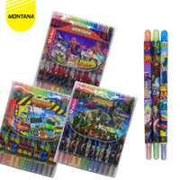 Crayon Gambar Model Putar 12 Warna Karakter Kartun Panjang 18cm - AVENGER
