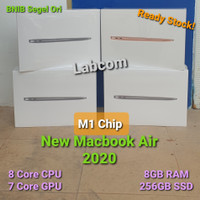 New Macbook Air 13 2020 M1 Chip 8 Core CPU/7Core GPU/SSD 256GB