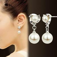 Anting Anting Mutiara Imitasi Perhiasan Wanita
