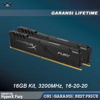 KINGSTON HYPERX FURY BLACK DDR4 16GB KIT 3200 2x8GB MEMORY RAM HYPER X