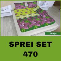 BAD COVER SEPREI TERMURAH Sprei Set No.3 Single Uk.120x200 Katun Po