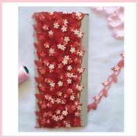 Renda daun bunga 1 bahan organza - harga per meter - hiasan souvenir