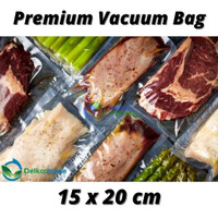 PLASTIK VACUUM VACUM VAKUM BAG SEALER MAKANAN POLOS DELKOCHOICE 15x20