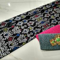 kain batik prada silver motif songket