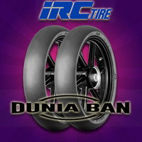 PAKET BAN SLICK IRC FASTI 1 UK 90/80-17 & 110/70-17 TUBELESS RACING