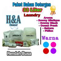 Detergen Laundry Cair   Bahan Detergen Laundry 33 Liter Rendah Busa - Merah