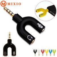 MIXIO Audio Splitter Model - U Aux Jack 2 In 1 Spliter /AUDIO CABANG 2