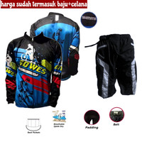 Baju Sepeda Jersey Celana Kaos Gunung Himer Special Setelan Set