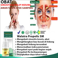Obat Sinusitis/Sinus Hidung Bau, Wajah Bengkak Alami|Propolis Sm Asli