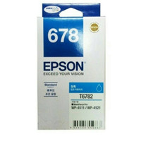 Tinta Epson 678 Cyan = EPSON WORKFORCE PRO WP-4011,WP-4511,WP-4521