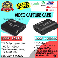 VIDEO CAPTURE CARD HDMI with LOOP/+AUDIO USB 3.0_1080p_60fps