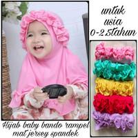 Hijab Bayi Set Bando Rempel Usia 0-2th / Kerudung Anak Bayi / Jilbab