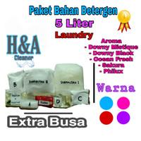 Detergen Laundry Cair   Bahan Detergen Laundry 5 Liter Extra Busa - Biru