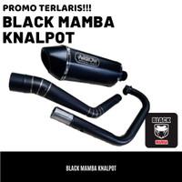 Knalpot ARROW Black Doff Nmax Aerox Vario PCX ADV Scoopy Mio Beat