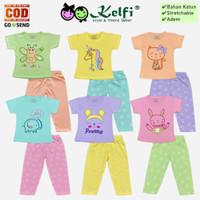 Setelan KELFI Baju Celana Panjang Bayi Anak Cewek Perempuan Big Dream