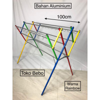 Jemuran Baju Rainbow 100cm Kualitas Bagus
