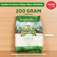 Gula Pasir Murah - Gulaku Premium 200gr Hijau - Gulaku Pillow Pack