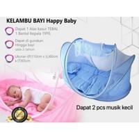 HAPPY BABY KELAMBU BAYI MUSIK SERIES 3 IN 1 DENGAN KASUR BANTAL KECIL