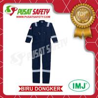 Wearpack Safety / Baju Kerja / Seragam Kerja IMJ Full Cotton Scot 3M - Biru dongker, M