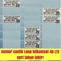 nomer cantik seri tahun kartu perdana LOOP telkomsel 4G lte nano micro