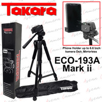 Tripod Takara ECO-193A mark ii For Handphone Mirrorless DSLR Sony