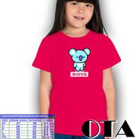 BTS21/BTS/Baju Anak Perempuan/Atasan Anak/Tshirt/KaosMurah/Anak - Hitam, XS