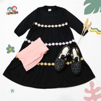 Baju Gamis anak perempuan Raggakids | gamis hitam usia 2th-dewasa