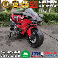 Motor Aki Anak Mainan motoran aki Kawasaki Ninja Ban Karet