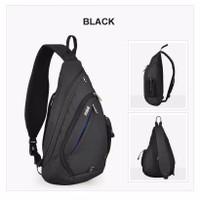 Tas Selempang Pria - LT04 Bag Hitam dan Abu Premium