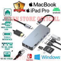 ROBOT HT380 TYPE C ADAPTER USB HUB Macbook iPad Pro ETHERNET LAN HDMI