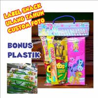 Tas Label Ultah Jajan Snack Plastik Ulang Tahun