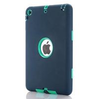 Case iPad Mini 1 2 3 Armor Heavy Duty Rugged Shield Shockproof - Navy + Blue