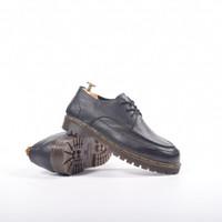 SEPATU KULIT AZCOST FOOTWEAR BOSTON BLACK ORIGINAL