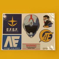 Sticker Gundam ESFS FanArt Set
