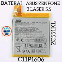 Baterai Battery Asus Zenfone 3 Laser 5.5 C11P1606 ZC551KL original