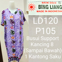 Daster Kancing Batik Cetak Bingliang/Baju Hamil Menyusui/ Busui/BL